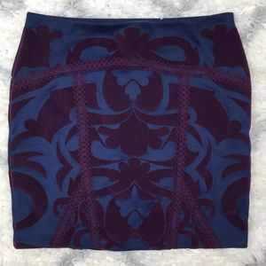 Free People Going Baroque skirt blue and purple